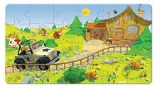 Detské puzzle do 100 dielov - Puzzle Jankove auto Janod v kufríku 24 - 36 dielov od 3 - 6 rokov_0