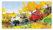 Detské puzzle do 100 dielov - Puzzle Jankove auto Janod v kufríku 24 - 36 dielov od 3 - 6 rokov_1