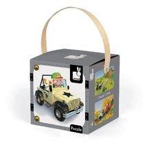 Detské puzzle do 100 dielov - Puzzle Jankove auto Janod v kufríku 24 - 36 dielov od 3 - 6 rokov_2