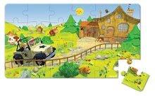 Detské puzzle do 100 dielov - Puzzle Jankove auto Janod v kufríku 24 - 36 dielov od 3 - 6 rokov_4