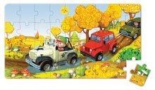Detské puzzle do 100 dielov - Puzzle Jankove auto Janod v kufríku 24 - 36 dielov od 3 - 6 rokov_5