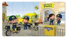 Detské puzzle do 100 dielov - Puzzle Matúšov bicykel Janod v kufríku 24 - 36 dielov od 3 - 6 rokov_0