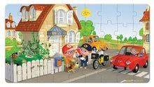Detské puzzle do 100 dielov - Puzzle Matúšov bicykel Janod v kufríku 24 - 36 dielov od 3 - 6 rokov_1