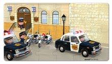 Detské puzzle do 100 dielov - Puzzle Borisove policajné auto Janod v kufríku 24 - 36 dielov od 3 - 6 rokov_0