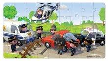 Detské puzzle do 100 dielov - Puzzle Borisove policajné auto Janod v kufríku 24 - 36 dielov od 3 - 6 rokov_1