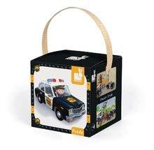 Detské puzzle do 100 dielov - Puzzle Borisove policajné auto Janod v kufríku 24 - 36 dielov od 3 - 6 rokov_2
