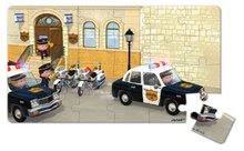 Detské puzzle do 100 dielov - Puzzle Borisove policajné auto Janod v kufríku 24 - 36 dielov od 3 - 6 rokov_4