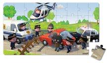 Detské puzzle do 100 dielov - Puzzle Borisove policajné auto Janod v kufríku 24 - 36 dielov od 3 - 6 rokov_5