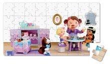 Detské puzzle do 100 dielov - Puzzle Lola na čajovej párty Janod v kufríku 24 - 36 dielov od 3 - 6 rokov_1