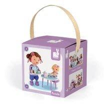 Detské puzzle do 100 dielov - Puzzle Lola na čajovej párty Janod v kufríku 24 - 36 dielov od 3 - 6 rokov_2