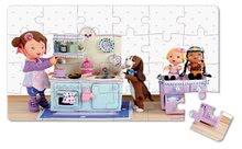 Detské puzzle do 100 dielov - Puzzle Lola na čajovej párty Janod v kufríku 24 - 36 dielov od 3 - 6 rokov_4
