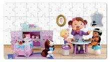 Detské puzzle do 100 dielov - Puzzle Lola na čajovej párty Janod v kufríku 24 - 36 dielov od 3 - 6 rokov_5