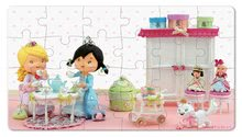 Detské puzzle do 100 dielov - Puzzle Ruženka sa hrá na princeznú Janod v kufríku 24 - 36 dielov od 3 - 6 rokov_0