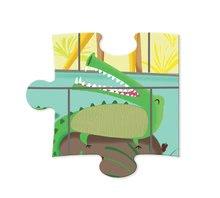 Puzzle pre najmenších - Puzzle Tactile Deň v zoologickej záhrade Janod s textúrou 20 dielov od 3 rokov_0
