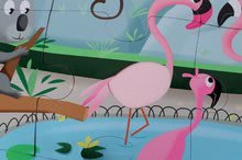 Puzzle pre najmenších - Puzzle Tactile Deň v zoologickej záhrade Janod s textúrou 20 dielov od 3 rokov_1