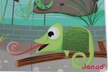 Puzzle pre najmenších - Puzzle Tactile Deň v zoologickej záhrade Janod s textúrou 20 dielov od 3 rokov_4