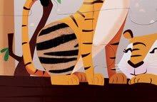 Puzzle pre najmenších - Puzzle Tactile Deň v zoologickej záhrade Janod s textúrou 20 dielov od 3 rokov_5