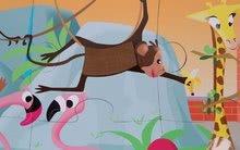 Puzzle pre najmenších - Puzzle Tactile Deň v zoologickej záhrade Janod s textúrou 20 dielov od 3 rokov_7