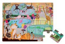 Puzzle pre najmenších - Puzzle Tactile Deň v zoologickej záhrade Janod s textúrou 20 dielov od 3 rokov_8