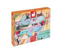 Puzzle pre najmenších - Puzzle Tactile Deň v zoologickej záhrade Janod s textúrou 20 dielov od 3 rokov_9