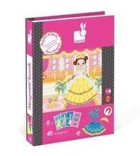 Magnetky pre deti - Magnetická kniha Princezné Magnetis'Book Janod 8 kariet_1