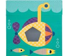 Vývoj motoriky - Didaktická kocka Oceán Janod s rôznymi textúrami a kockami od 12 mes_10
