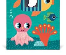 Vývoj motoriky - Didaktická kocka Oceán Janod s rôznymi textúrami a kockami od 12 mes_13