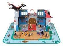 Stavebnica Rytiersky hrad Cardboard Worlds Janod s 18 doplnkami od 4 rokov