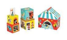 Vývoj motoriky - Skladacia pyramída Multikub Circus Janod s 5 drevenými figúrkami od 12 mes_1