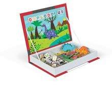 Magnetky pre deti - Magnetická kniha Dinosaurus Magneti'Book Janod 104+12 magnetov a 12 kariet_0