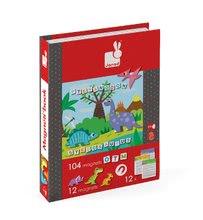 Magnetky pre deti - Magnetická kniha Dinosaurus Magneti'Book Janod 104+12 magnetov a 12 kariet_3