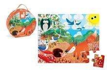 Detské puzzle do 100 dielov - Puzzle Zvieratká v lese Janod v okrúhlom kufríku 24 dielov od 3 rokov_0