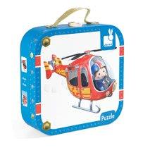 Detské puzzle do 100 dielov - Puzzle Pierrova helikoptéra Janod v kufríku 6-9-12-16 dielov od 3 - 6 rokov_1