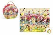 Detské puzzle do 100 dielov - Puzzle Cirkus Janod v okrúhlom kufríku 54 dielov od 5 - 8 rokov_0