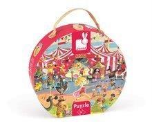 Detské puzzle do 100 dielov - Puzzle Cirkus Janod v okrúhlom kufríku 54 dielov od 5 - 8 rokov_1