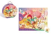 Detské puzzle do 100 dielov - Puzzle Princezná a koč Janod v okrúhlom kufríku 54 dielov od 5 rokov_0