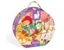 Detské puzzle do 100 dielov - Puzzle Princezná a koč Janod v okrúhlom kufríku 54 dielov od 5 rokov_1
