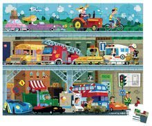 Detské puzzle od 100-300 dielov - Puzzle Vozidlá Janod v okrúhlom kufríku 100 dielov od 5 - 8 rokov_0