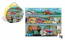Detské puzzle od 100-300 dielov - Puzzle Vozidlá Janod v okrúhlom kufríku 100 dielov od 5 - 8 rokov_1