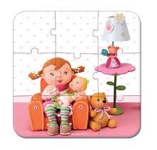 Detské puzzle do 100 dielov - Puzzle Lilou a bábiky Janod v kufríku 6-9-12-16 dielov od 3 - 6 rokov_1