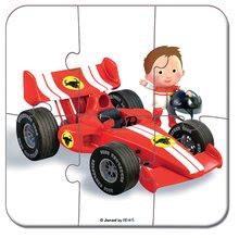 Detské puzzle do 100 dielov - Puzzle Gabinova formula 1 Janod v kufríku 6-9-12-16 dielov od 3 - 6 rokov_0