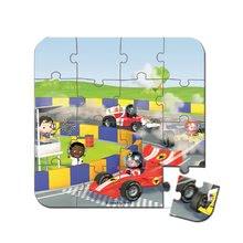 Detské puzzle do 100 dielov - Puzzle Gabinova formula 1 Janod v kufríku 6-9-12-16 dielov od 3 - 6 rokov_3