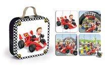 Detské puzzle do 100 dielov - Puzzle Gabinova formula 1 Janod v kufríku 6-9-12-16 dielov od 3 - 6 rokov_4