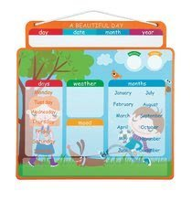Magnetky pre deti - Magnetická tabuľa Magnetic Calendar - A Beautiful Day Janod v angličtine_0