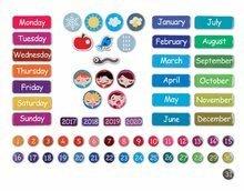 Magnetky pre deti - Magnetická tabuľa Magnetic Calendar - A Beautiful Day Janod v angličtine_1