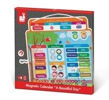 Magnetky pre deti - Magnetická tabuľa Magnetic Calendar - A Beautiful Day Janod v angličtine_2