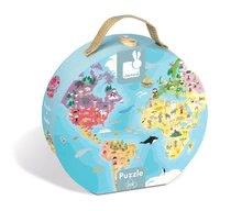 Detské puzzle od 100-300 dielov - Obojstranné puzzle Naša Modrá Planéta Janod v okrúhlom kufríku 208 dielov od 6 - 9 rokov_2