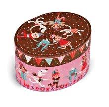 Kozmetický stolík pre deti - Hudobná šperkovnica Jewellery Oval Musical Box - Petruschka Janod _0