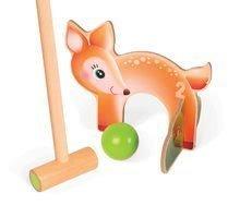 Kroket - Drevený kroket Forest Animal Croquet Janod so 6 lesnými zvieratkami_0
