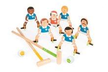 Drevená hra kroket Champions Croquet Janod so 6 futbalistami od 4 rokov